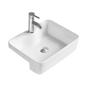 Square Semi Recessed 480mm Basin with 1 Tap Hole