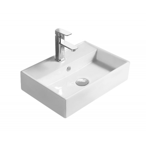 500mm x 350mm x 120mm Counter Top Basin with 1 Tap Hole