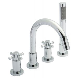 Tec Crosshead 4 Tap Hole Bath Shower Mixer