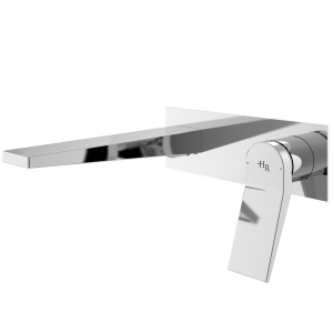 Soar Chrome Wall Mounted Single Lever Basin Mixer Tap