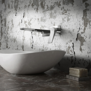"""""""Soar"""" Chrome Wall Mounted Single Lever Basin Mixer Tap"""