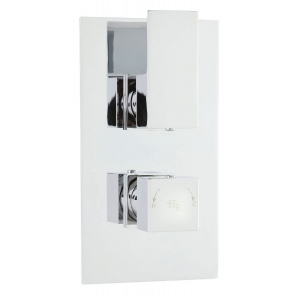 Art Twin Concealed Thermostic Valve Rectangular Plate