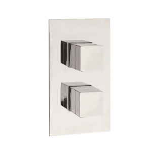 Lennox Square Thermostatic Valve with Concealed Diverter