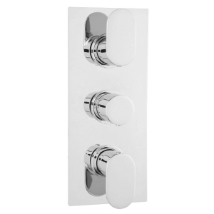 Chrome Reign Thermostatic Triple Valve with Diverter