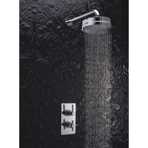 """""""Tec"""" Pura Twin Concealed Thermostatic Valve Rectangular Plate"""
