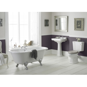 """""""Richmond"""" 465mm (w) x 2140mm (h) High Level Traditional Toilet Inc Flush Pipe Kit & Cistern (Seat Not Included)"""