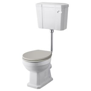 Comfort Height Toilet Pan , Low Level Cistern & Flush Pipe Kit