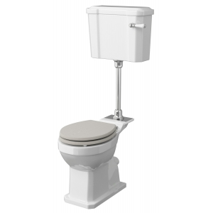 Richmond Comfort Height Mid Level Pan, Cistern and Flush Pipe Kit