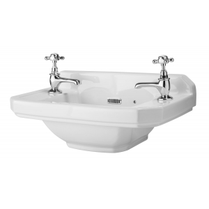 Richmond 515mm Cloakroom Basin with 2 Tap Holes