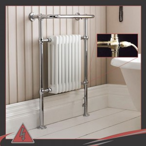 "673mm (w) x 963mm (h) Single Heat ""Old Colwyn"" Traditional Towel Rail (Single Heat)"