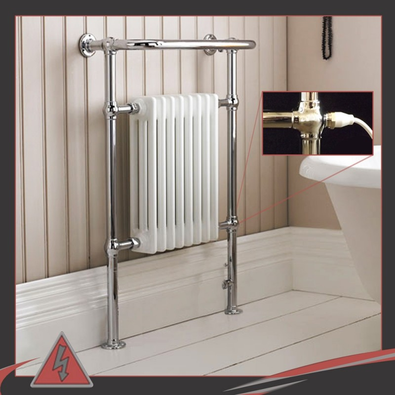 673mm x 963mm Single Heat Old Colwyn Traditional Towel Rail