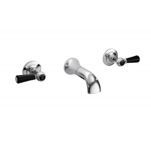 Wall Mount 3 Tap Hole Basin Tap Dome Lever