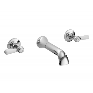 Wall Mount 3 Tap Hole Basin Tap Hex Lever