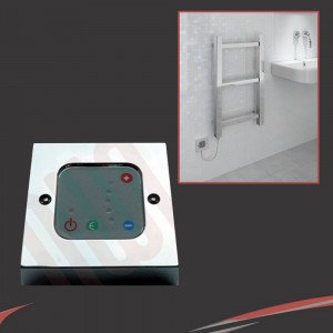 Chrome Thermostatic Wall Controller for Electric Towel Rails or Radiators