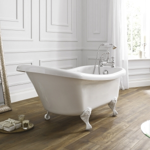 """Holborn """"Camden"""" 1500mm(L) x 750mm(W) White Traditional Freestanding Single Ended Bath"""