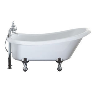 """Holborn """"Camden"""" 1500mm(L) x 750mm(W) White Traditional Freestanding Single Ended Bath (Choose your Feet)"""