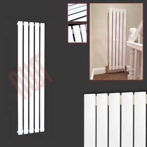 360mm (w) x 1250mm (h) Corwen White Vertical Radiator