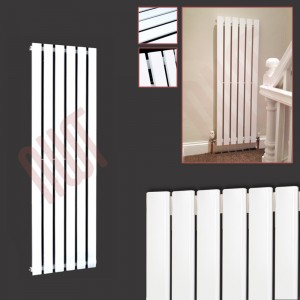 440mm (w) x 1250mm (h) Corwen White Vertical Radiator