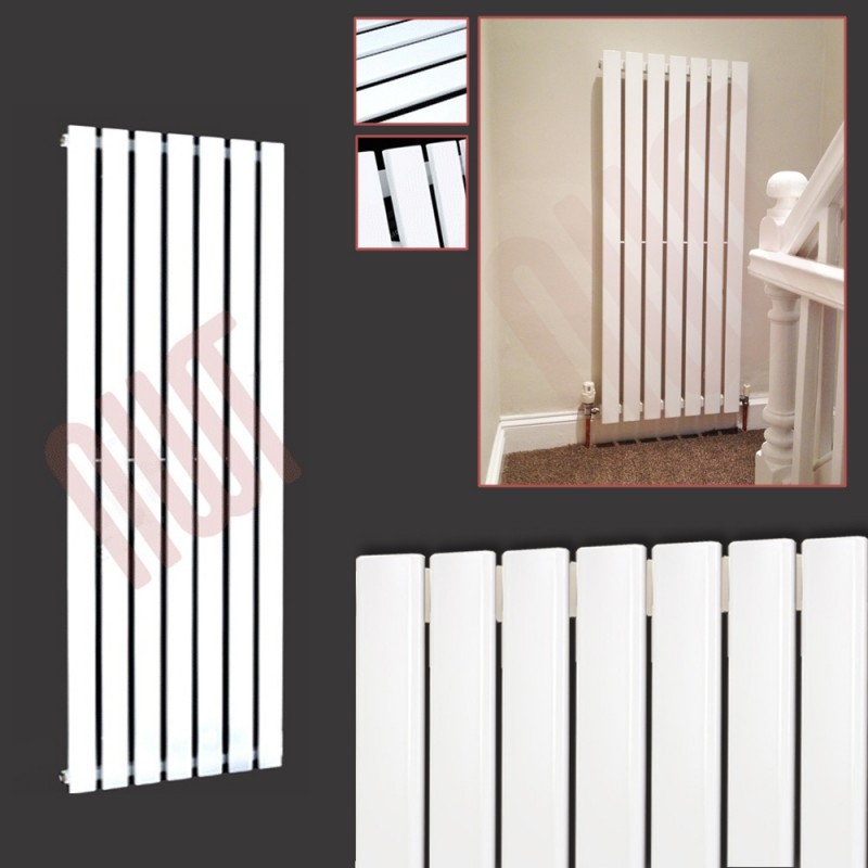 516mm (w) x 1250mm (h) Corwen White Vertical Radiator