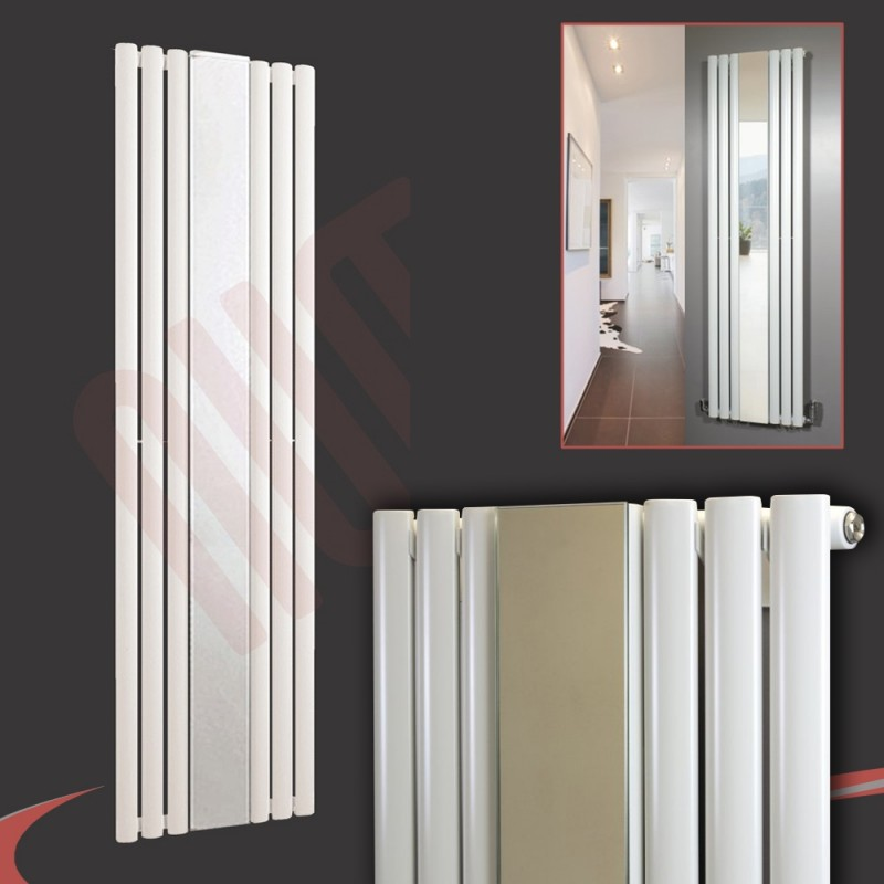 499mm (w) x 1800mm (h) Brecon White Mirror Radiator