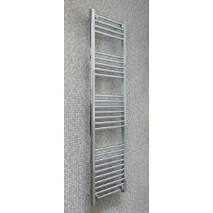 400mm (w) x 1400mm (h) Electric Straight Chrome Towel Rail (Single Heat or Thermostatic Option)