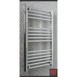 500mm (w) x 800mm (h) Electric Straight Chrome Towel Rail (Single Heat or Thermostatic Option)