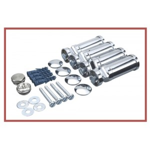 500mm (w) x 1200mm (h) Electric Straight Chrome Towel Rail (Single Heat or Thermostatic Option)