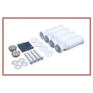 500mm (w) x 800mm (h) Electric Straight White Towel Rail (Single Heat or Thermostatic Option)