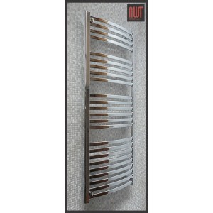 600mm (w) x 1400mm (h) Electric Ellipse Chrome Designer Towel Rail (Single Heat or Thermostatic Option)