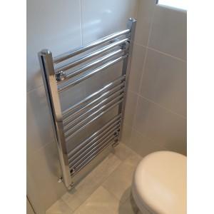 500mm (w)  x 800mm (h) Straight Chrome Towel Rail
