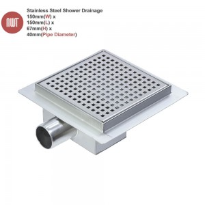 "150mm Stainless Steel ""Square"" Wetroom Drainage System"