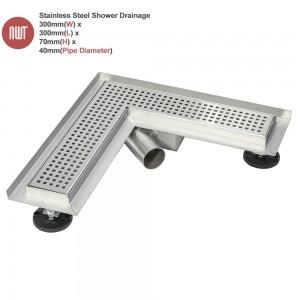 300mm Corner Wetroom Drainage