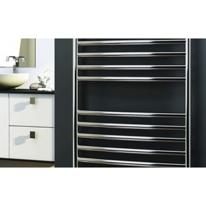 350mm (w) x 1400mm (h) Polished Stainless Steel Towel Rail