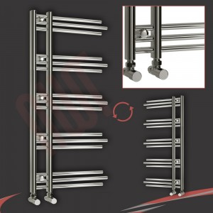 500mm (w) x 1200mm (h) Beaumaris Chrome Designer Towel Rail