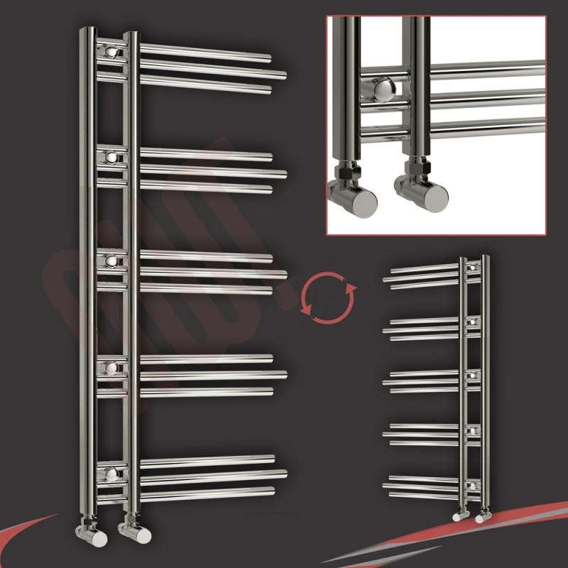 500mm (w) x 1200mm (h) Beaumaris Chrome Designer Towel Rail