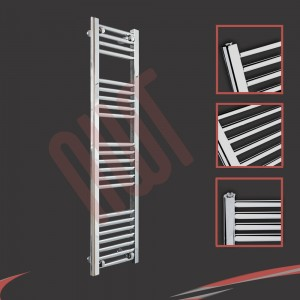 "300mm (w) x 1200mm (h) ""Straight Chrome"" Towel Rail"