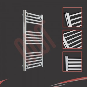 "400mm (w) x 800mm (h) ""Straight Chrome"" Towel Rail"