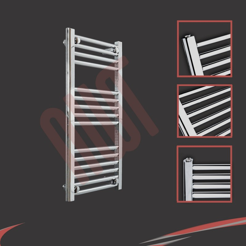 400mm x 800mm Straight Chrome Towel Rail