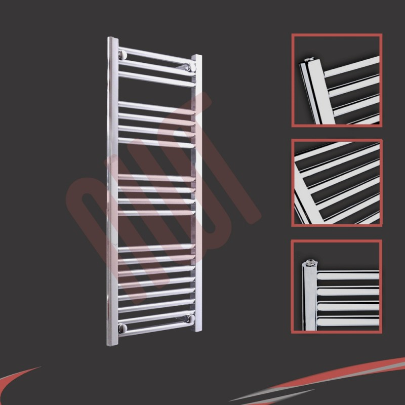 400mm x 1000mm Straight Chrome Towel Rail