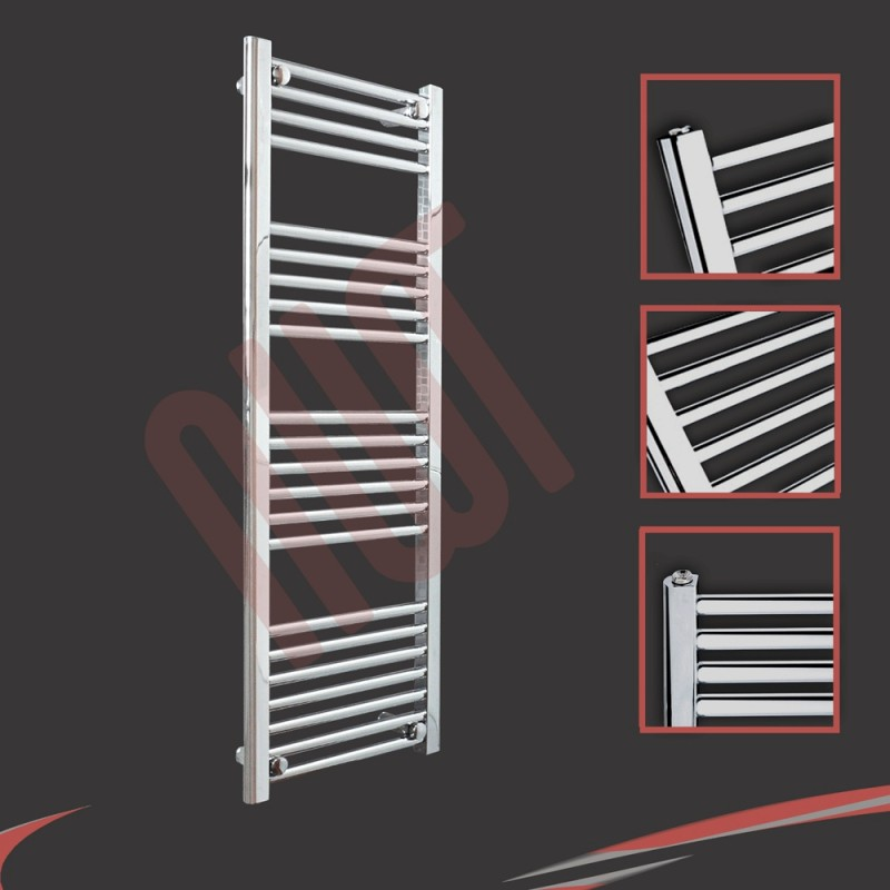 400mm x 1200mm Straight Chrome Towel Rail