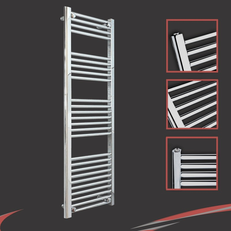 400mm x 1400mm Straight Chrome Towel Rail