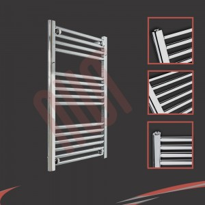 500mm  x 800mm Straight Chrome Towel Rail