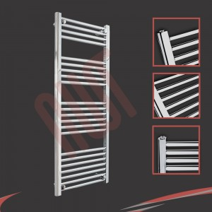 "500mm (w) x 1200mm (h) ""Straight Chrome"" Towel Rail"