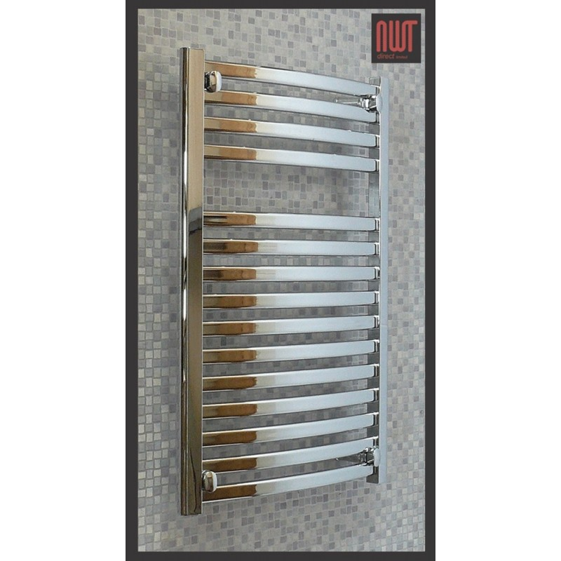 600mm (w) x 800mm (h) Electric Ellipse Chrome Towel Rail (Single Heat or Thermostatic Option)