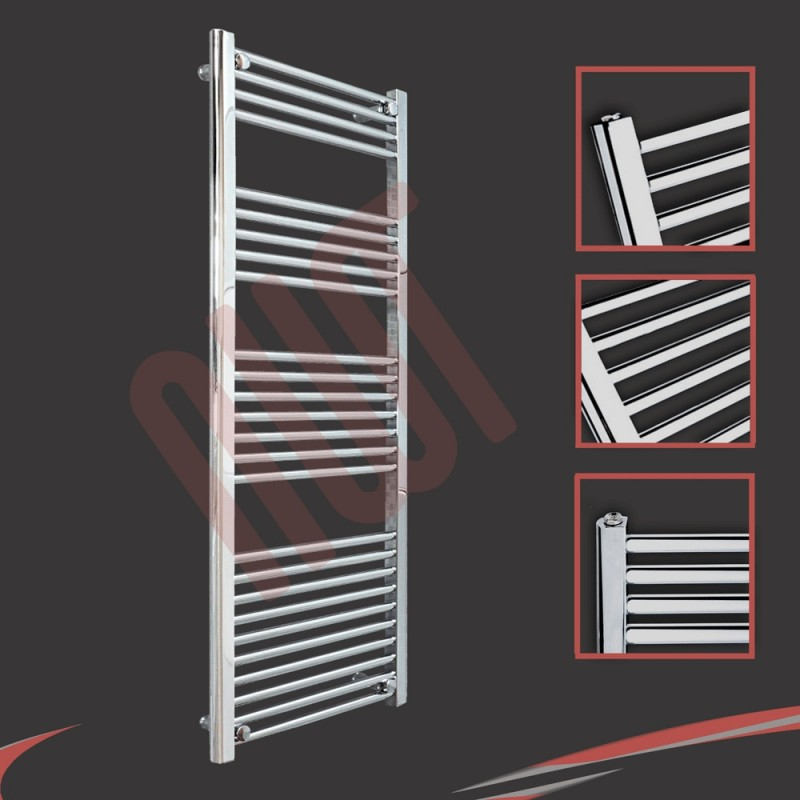 500mm x 1400mm Straight Chrome Towel Rail