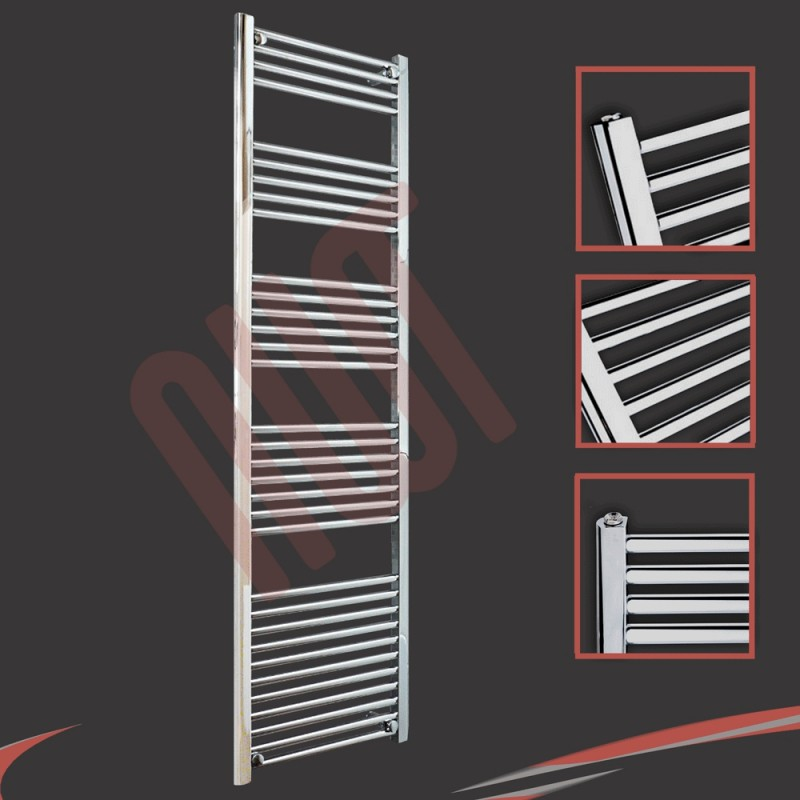 500mm x 1800mm Straight Chrome Towel Rail