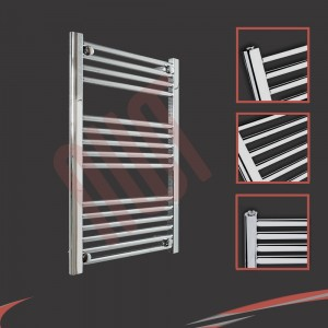 600mm  x 800mm Straight Chrome Towel Rail