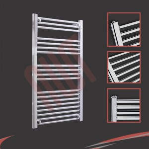 600mm x 1000mm Straight Chrome Towel Rail