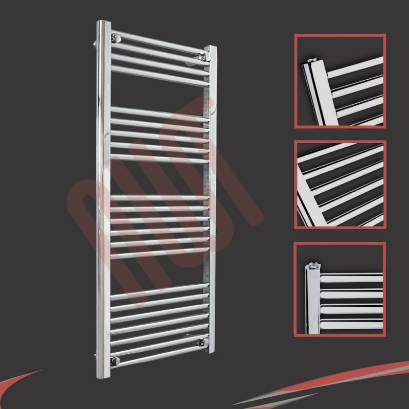 600mm  x 1200mm Straight Chrome Towel Rail