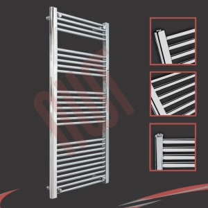 600mm x 1400mm Straight Chrome Towel Rail